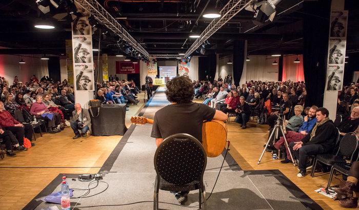 Nicolás Miquea aus Chile auf der Konferenz 2017. Foto: Christian Ditsch
