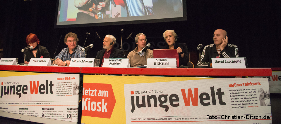 Rosa-Luxemburg-Konferenz 2015: Internationale Gäste auf dem Podium. Foto: Christian-Ditsch.de