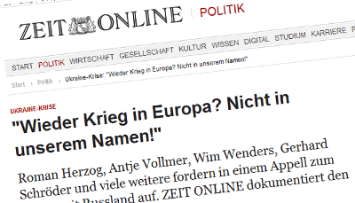 Screenshot: Zeit Online