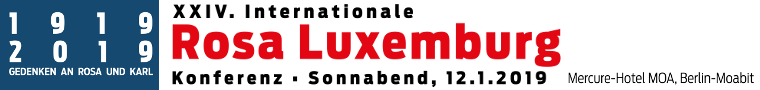 XXIV. Internationale Rosa-Luxemburg-Konferenz 2019